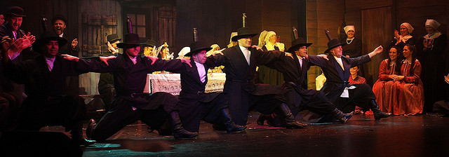 "Bottle dancers from the 2008 production of ""Fiddler on the Roof"" at the Thwaites Empire Theatre."